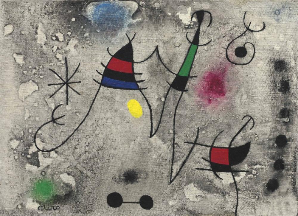 Joan Miro İİ Uçuşu, Figür, Joan Miro, kanvas tablo, canvas print sales