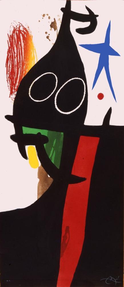 Joan Miro Karabuğday Mavi Yıldız Var, Figür, Joan Miro, kanvas tablo, canvas print sales
