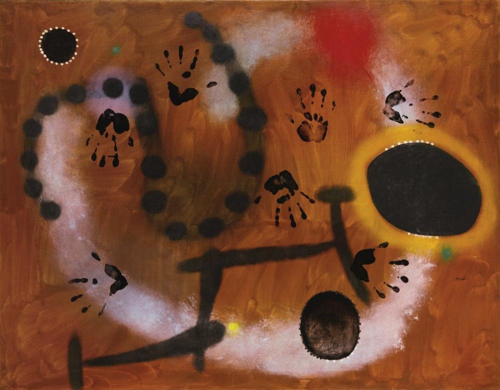 Joan Miro Takımyıldızların Uçuşuyla Umut Bize Geri Dönüyor, Figür, Joan Miro, kanvas tablo, canvas print sales
