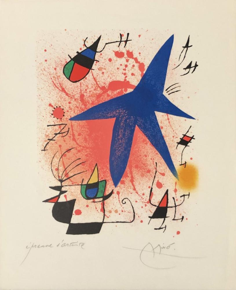 Joan Miro Litografi I, Figür, Joan Miro, kanvas tablo, canvas print sales