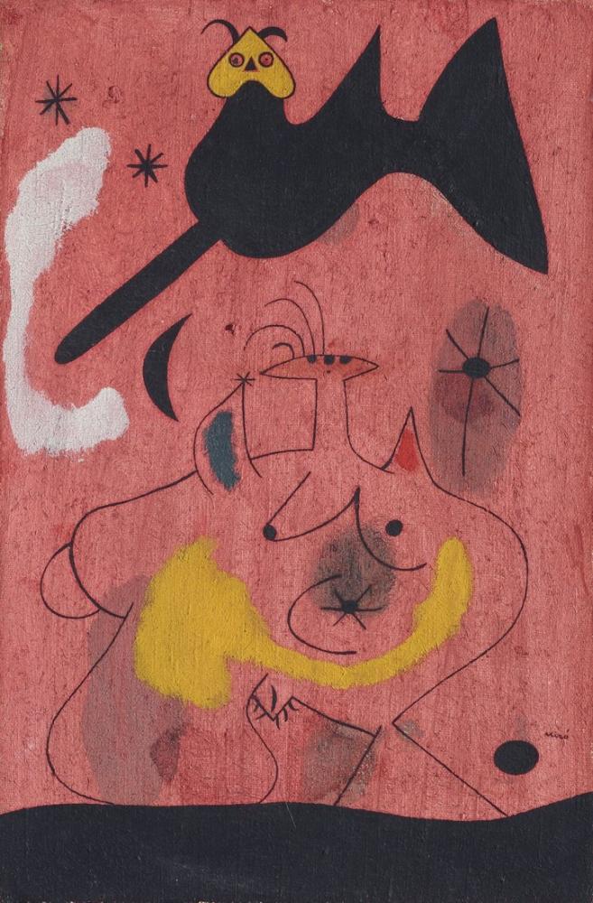 Joan Miro Gece Hayatı, Figür, Joan Miro, kanvas tablo, canvas print sales