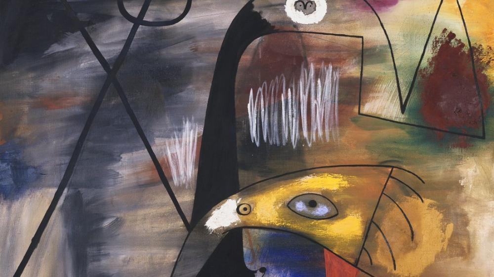 Joan Miro Erkek Kadın ve Çocuk, Figür, Joan Miro, kanvas tablo, canvas print sales