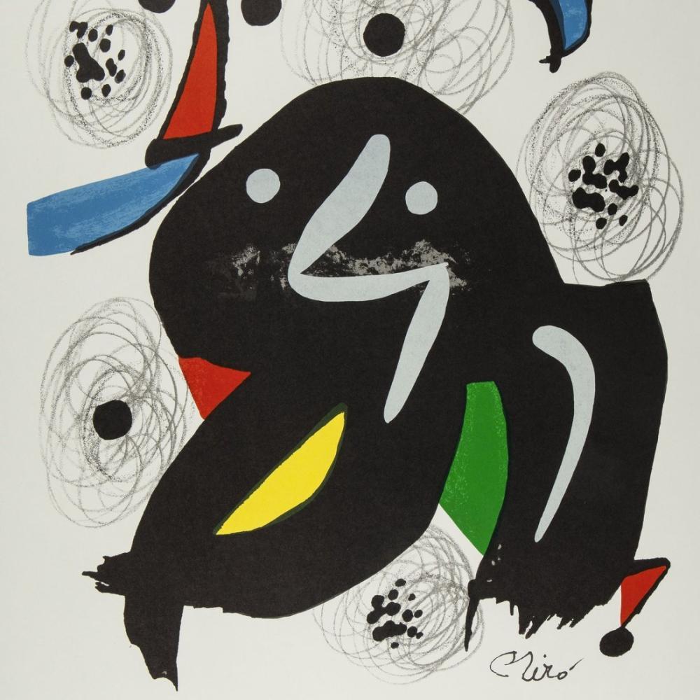 Joan Miro Litografi Posteri, Figür, Joan Miro, kanvas tablo, canvas print sales