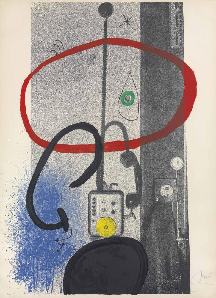Joan Miro Gece Bekçisi, Figür, Joan Miro, kanvas tablo, canvas print sales