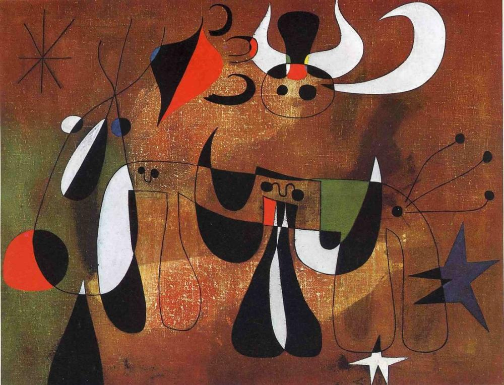 Joan Miro Eserleri, Figür, Joan Miro, kanvas tablo, canvas print sales