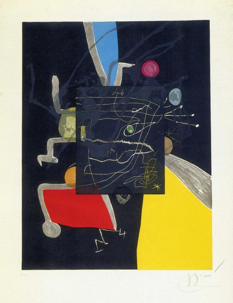 Joan Miro Altı Duyu Kitabı V, Figür, Joan Miro, kanvas tablo, canvas print sales