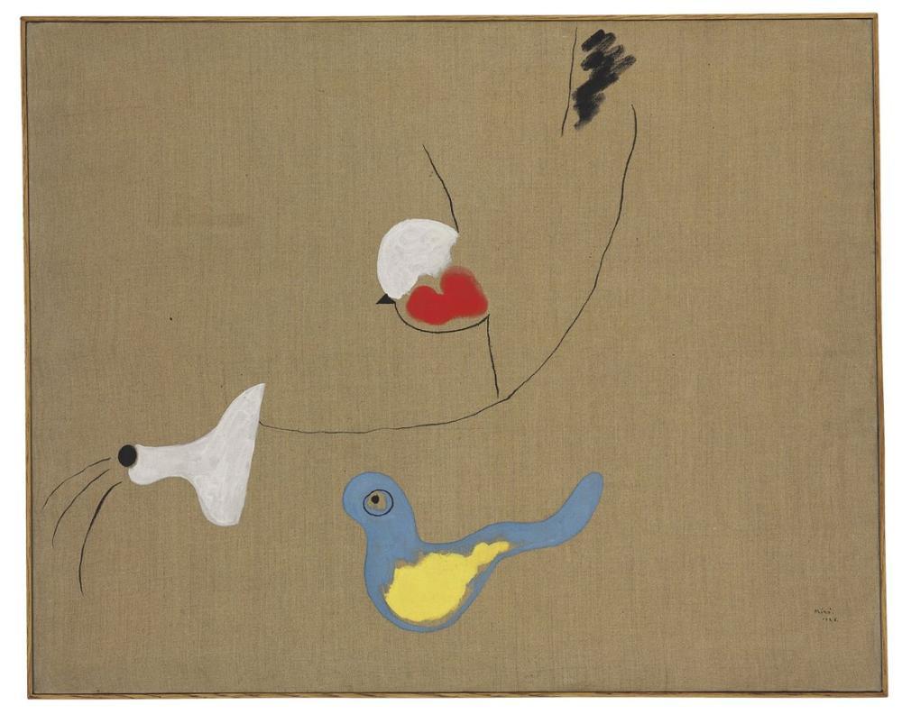 Joan Miro Kuş Boyama, Figür, Joan Miro, kanvas tablo, canvas print sales