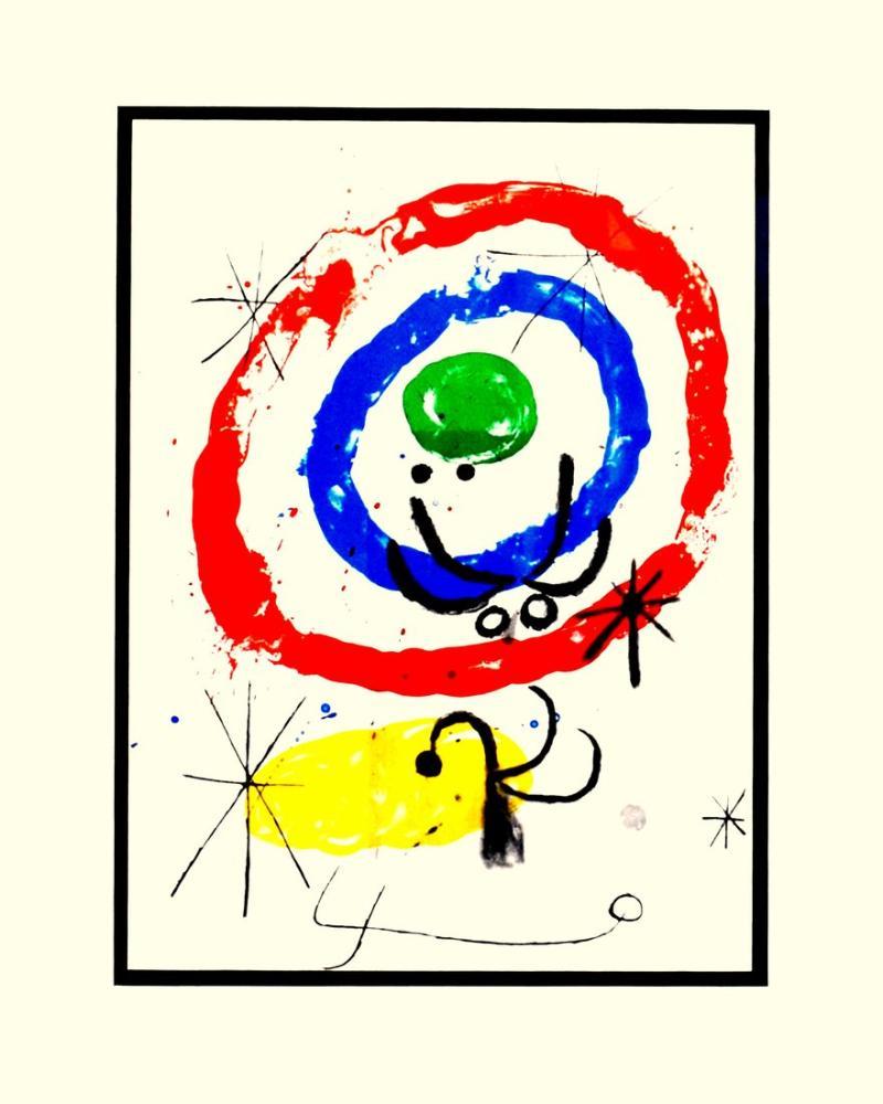Joan Miro Karton Üzerine Resim Sergisi, Figür, Joan Miro, kanvas tablo, canvas print sales
