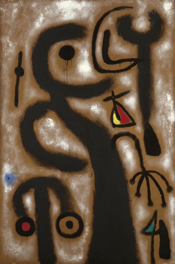Joan Miro Kırmızı Burun Karakteri, Figür, Joan Miro, kanvas tablo, canvas print sales