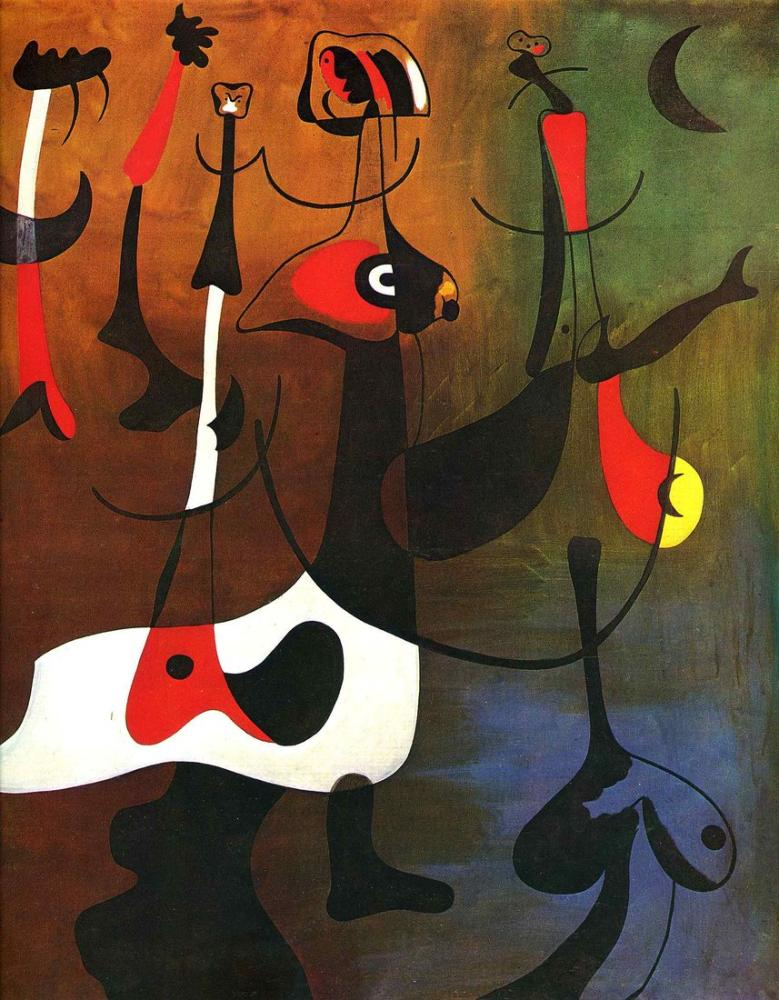 Joan Miro Ritmik Karakterler, Figür, Joan Miro, kanvas tablo, canvas print sales