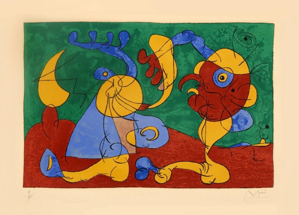Joan Miro Ubu Roi PL7, Figür, Joan Miro, kanvas tablo, canvas print sales