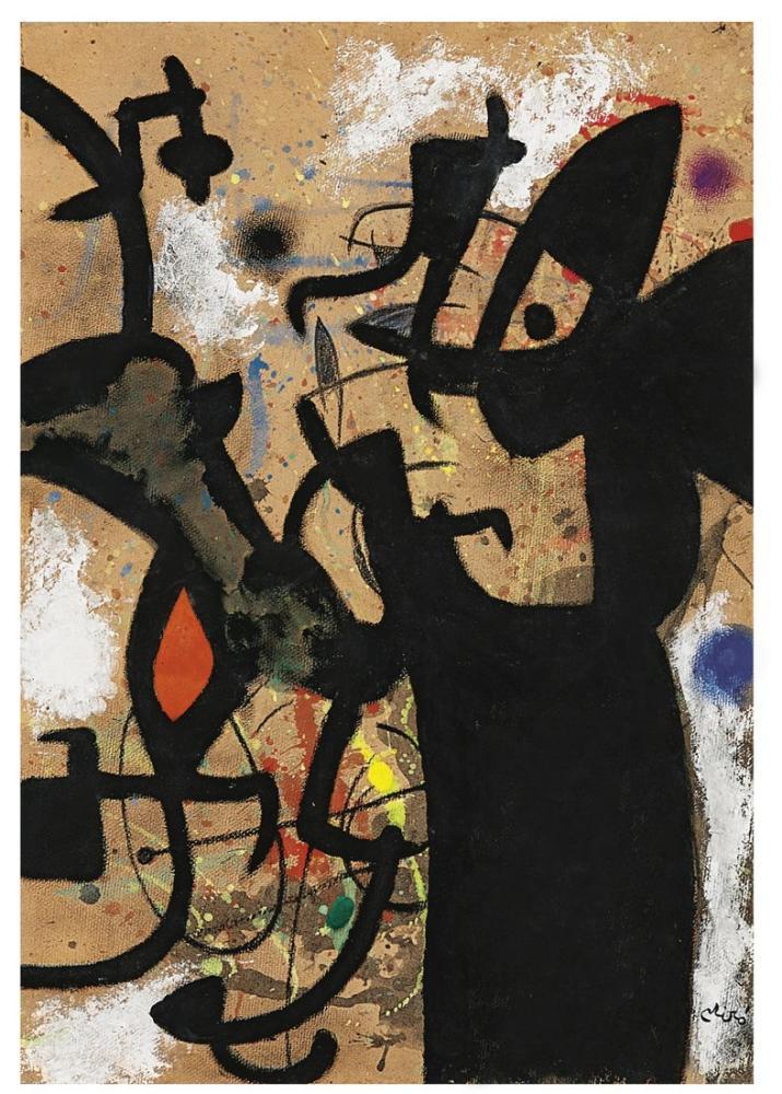 Joan Miro Şair Şiir Yazmak, Figür, Joan Miro, kanvas tablo, canvas print sales