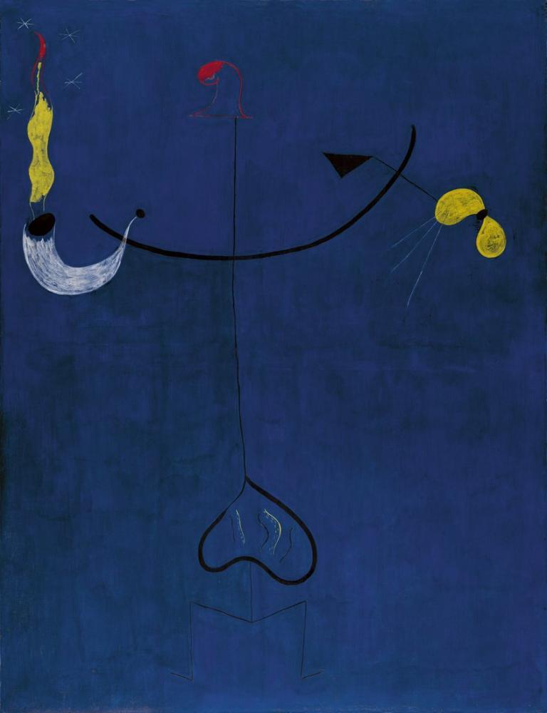 Joan Miro Köylü Katalan Gitar, Figür, Joan Miro, kanvas tablo, canvas print sales