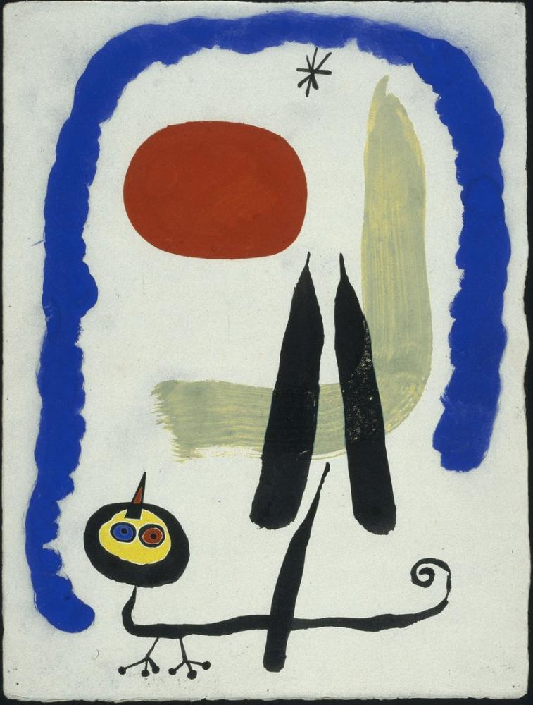Joan Miro Saf Kömür, Figür, Joan Miro, kanvas tablo, canvas print sales