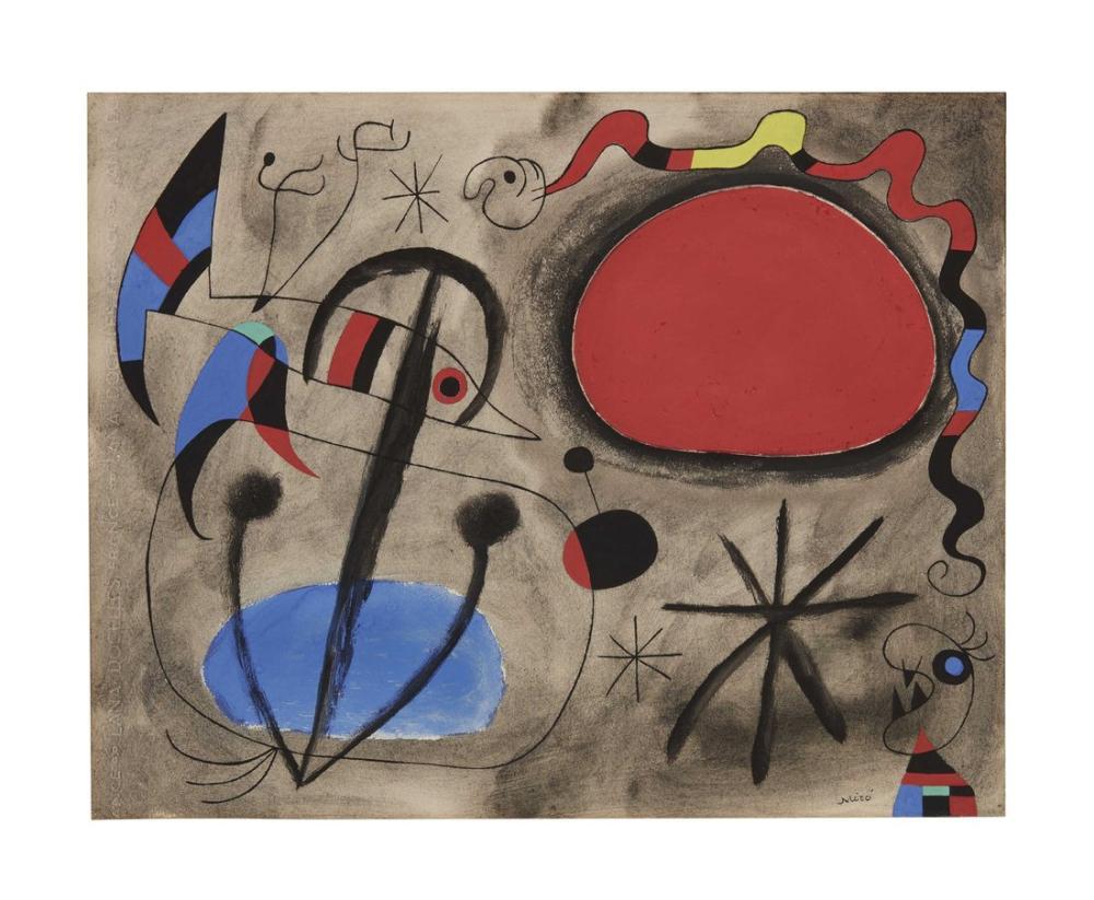 Joan Miro Sans Titre, Figure, Joan Miro, kanvas tablo, canvas print sales
