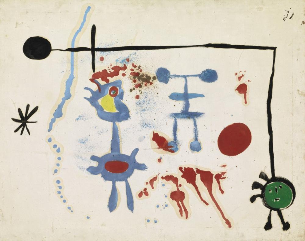 Joan Miro Sans Titre V, Figure, Joan Miro, kanvas tablo, canvas print sales