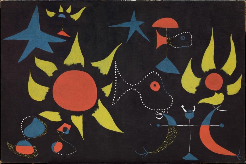 Joan Miro Başlıksız II, Figür, Joan Miro, kanvas tablo, canvas print sales