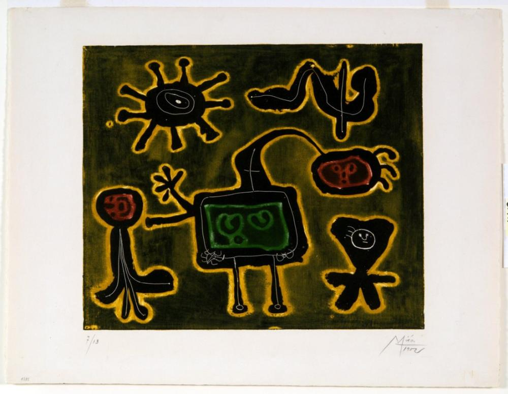 Joan Miro Dizi I, Figür, Joan Miro, kanvas tablo, canvas print sales