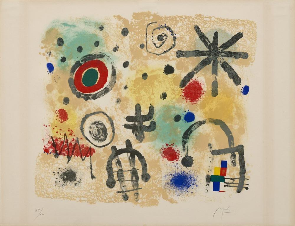 Joan Miro İşaretler Ve Meteorlar, Figür, Joan Miro, kanvas tablo, canvas print sales