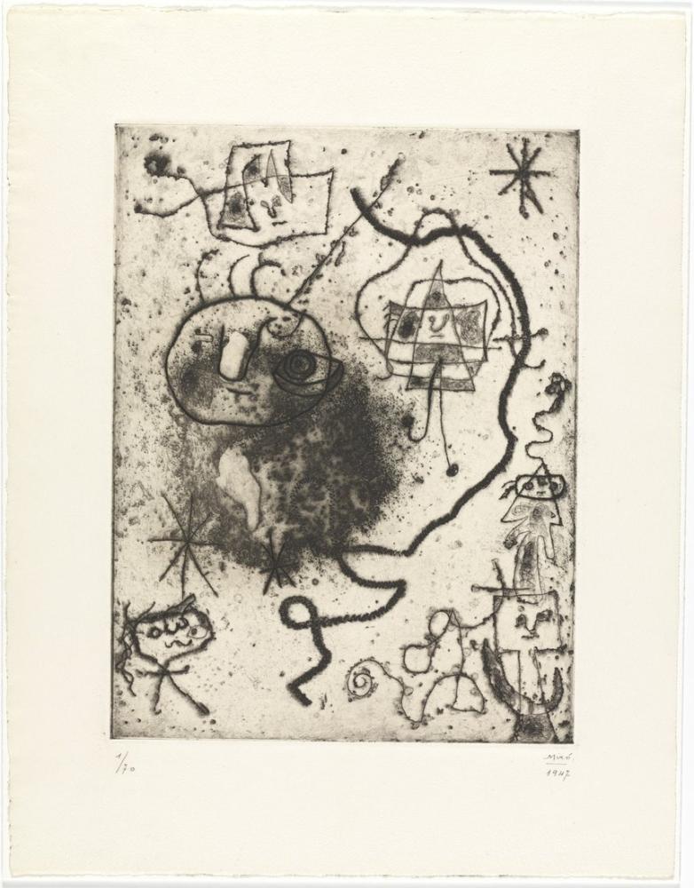 Joan Miro Sketch II, Figure, Joan Miro, kanvas tablo, canvas print sales