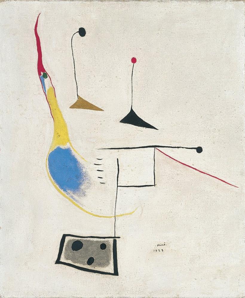 Joan Miro On White Background, Figure, Joan Miro, kanvas tablo, canvas print sales