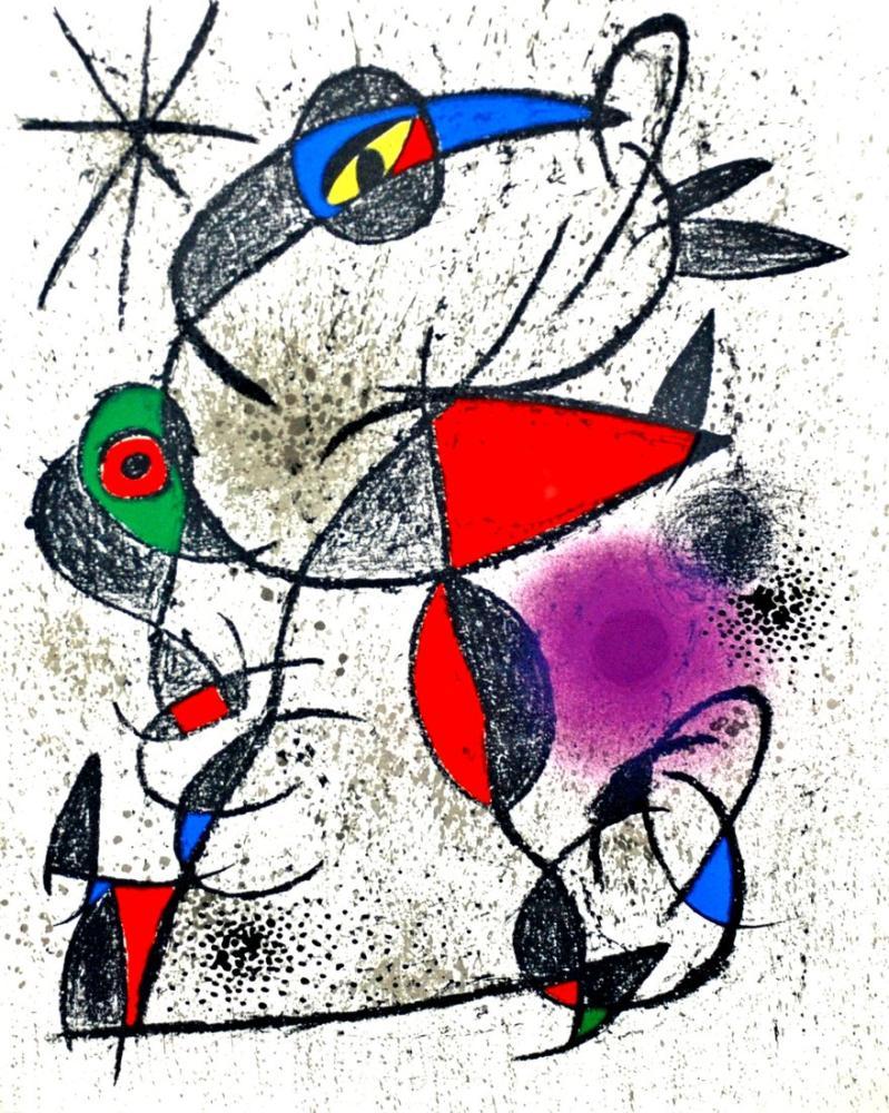 Joan Miro Souvenirs Et Portraits D Artistes, Figure, Joan Miro, kanvas tablo, canvas print sales