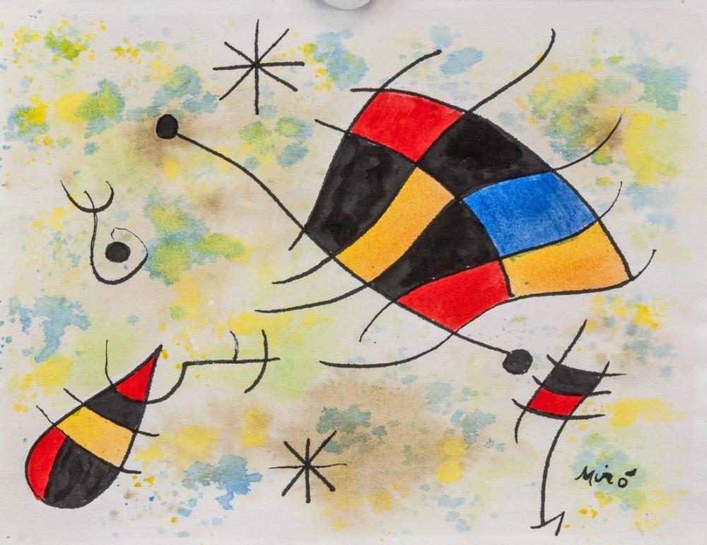 Joan Miro İspanyolca, Figür, Joan Miro, kanvas tablo, canvas print sales