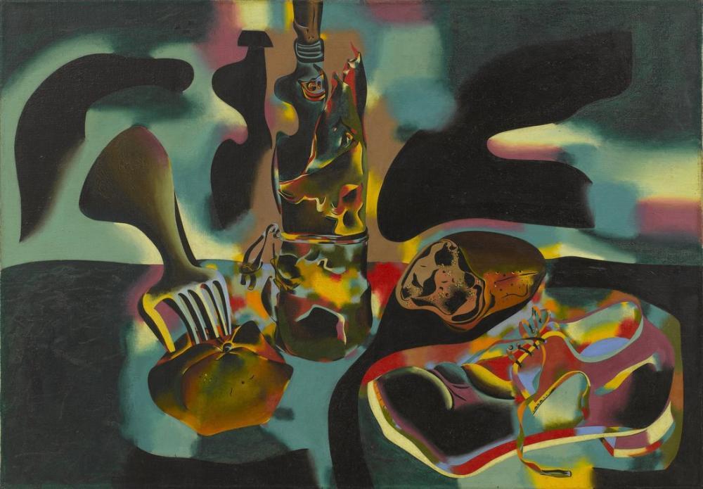 Joan Miro Still Life With Old Shoe, Figure, Joan Miro, kanvas tablo, canvas print sales
