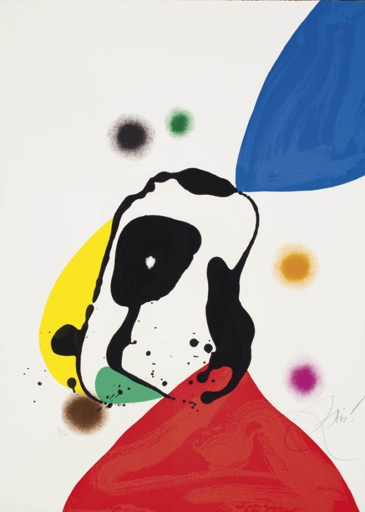 Joan Miro Mavi Ve Sarı Nehir Üzerinde, Figür, Joan Miro, kanvas tablo, canvas print sales