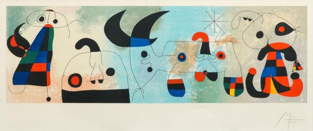 Joan Miro Dört Duvarda, Figür, Joan Miro, kanvas tablo, canvas print sales
