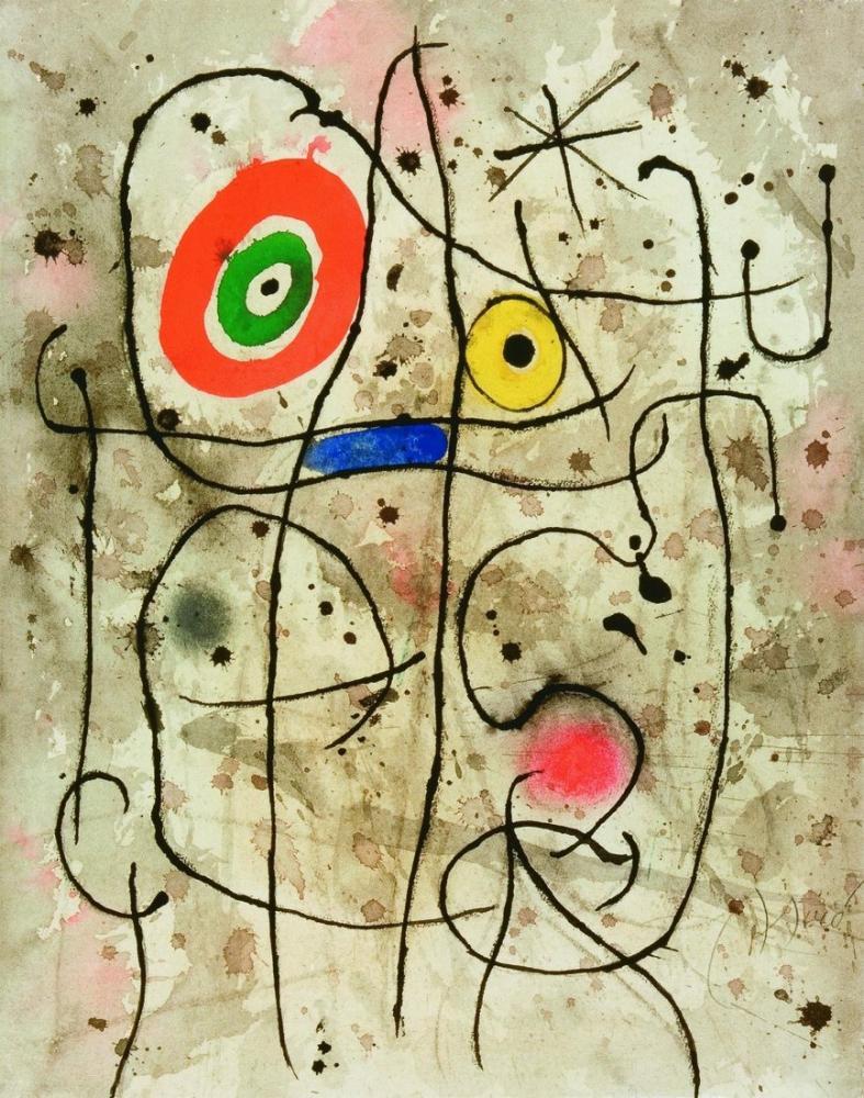Joan Miro Yüz Kompozisyonu, Figür, Joan Miro, kanvas tablo, canvas print sales