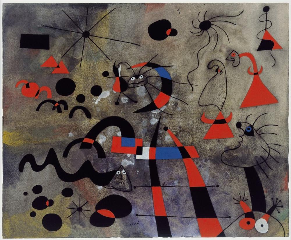 Joan Miro Kaçış Merdiveni, Figür, Joan Miro, kanvas tablo, canvas print sales