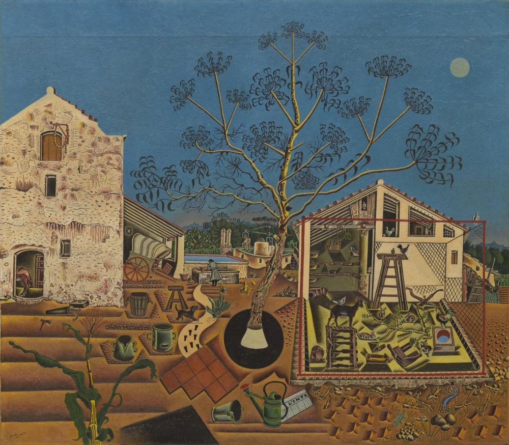 Joan Miro Çiftlik, Figür, Joan Miro, kanvas tablo, canvas print sales
