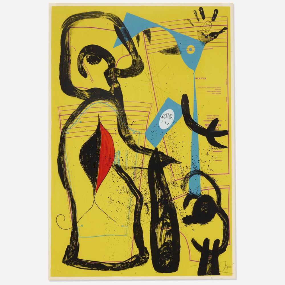 Joan Miro Uydurma İİ Wright Açık Artırması, Figür, Joan Miro, kanvas tablo, canvas print sales