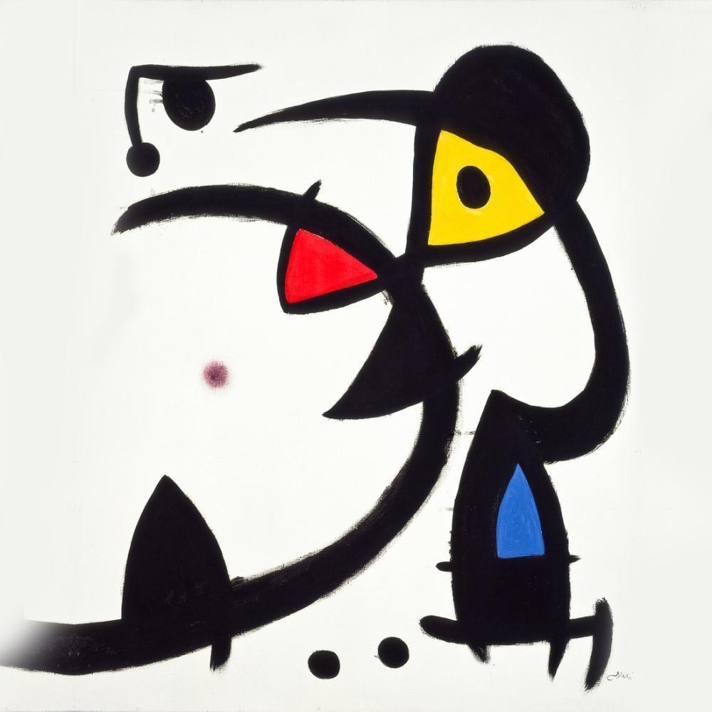 Joan Miro The Force Of Matter, Figure, Joan Miro, kanvas tablo, canvas print sales