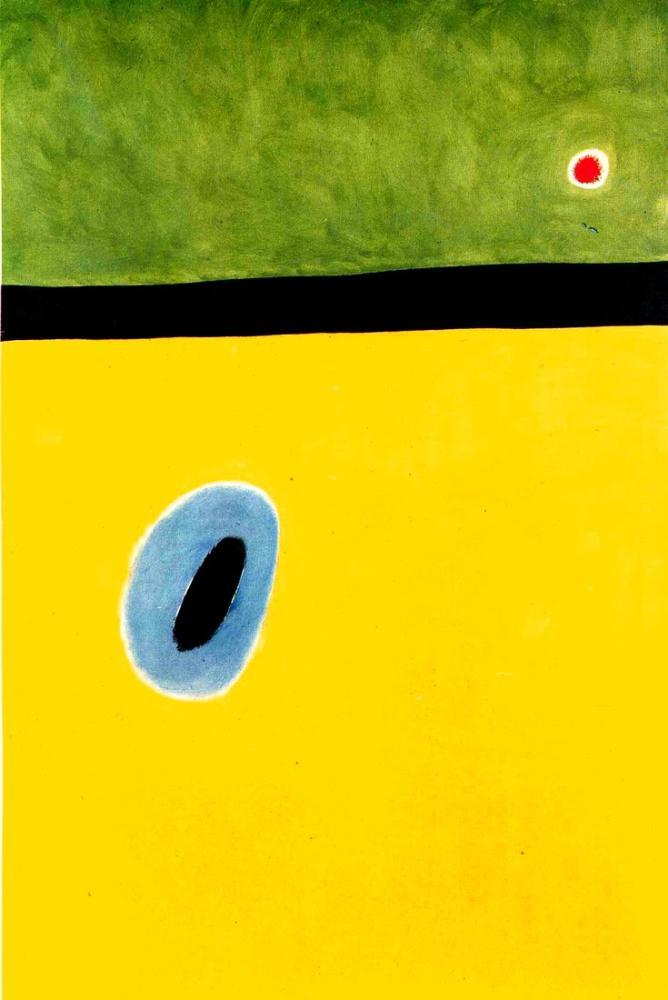 Joan Miro Bir Elmas Üzerinde Uyuyor Gelincik Kalbinde, Figür, Joan Miro, kanvas tablo, canvas print sales