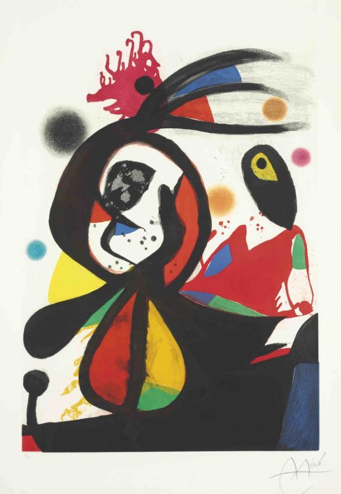 Joan Miro The Magic Of Color, Figure, Joan Miro, kanvas tablo, canvas print sales