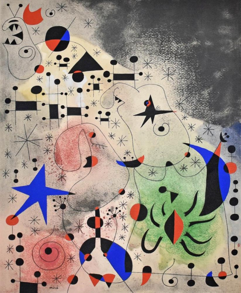 Joan Miro The Migratory Bird, Figure, Joan Miro, kanvas tablo, canvas print sales