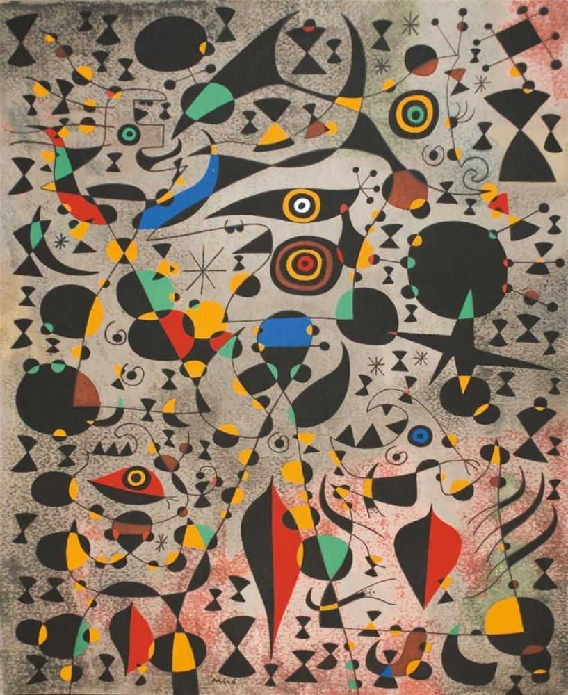 Joan Miro Takımyıldızları I, Figür, Joan Miro, kanvas tablo, canvas print sales
