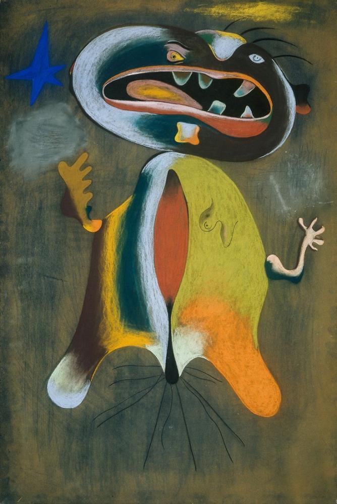 Joan Miro Kadını 1934, Figür, Joan Miro, kanvas tablo, canvas print sales