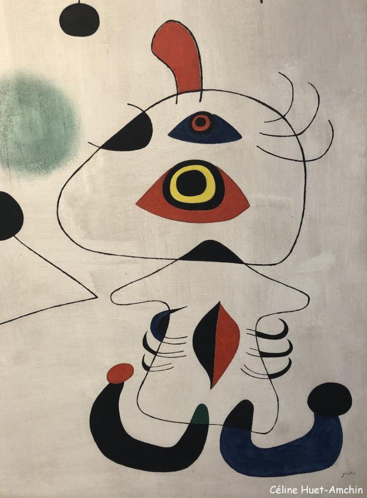 Joan Miro Kadın Ve Gece Kuş, Figür, Joan Miro, kanvas tablo, canvas print sales