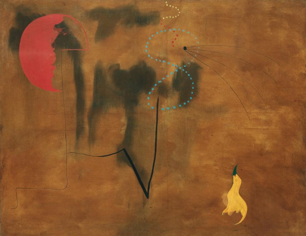 Joan Miro Sarı Kuş Boyama 1925, Figür, Joan Miro, kanvas tablo, canvas print sales