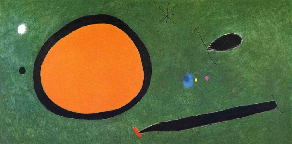 Joan Miro Bird Flight In Moonlight, Figure, Joan Miro, jm294
