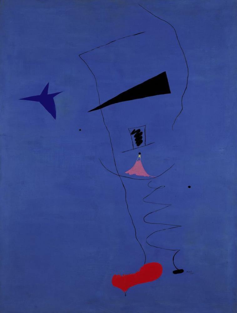 Joan Miro Mavi I, Figür, Joan Miro, kanvas tablo, canvas print sales