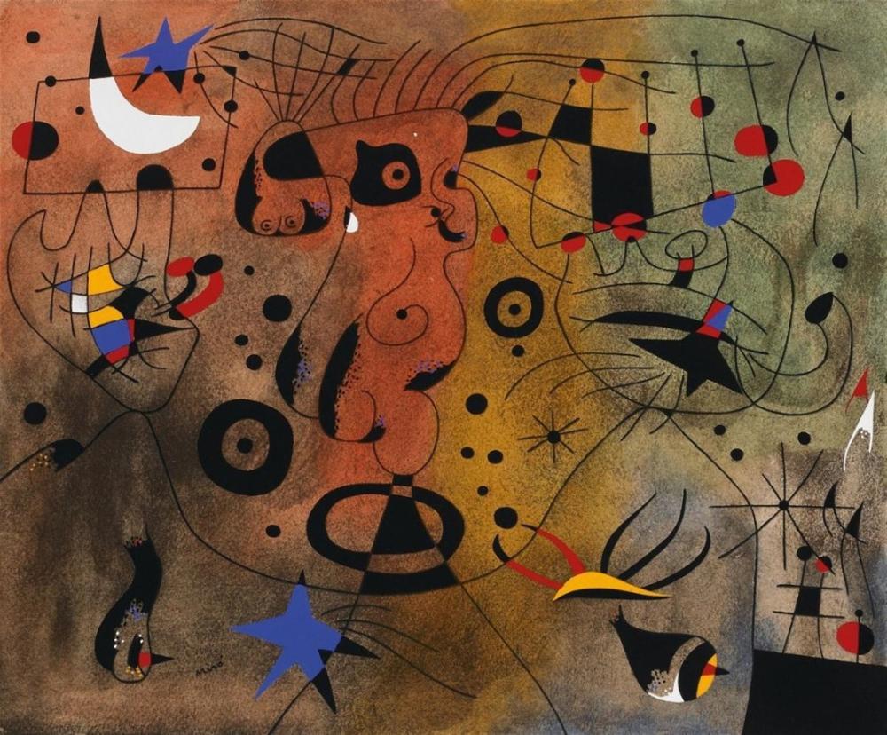 Joan Miro Takımyıldızları A, Figür, Joan Miro, kanvas tablo, canvas print sales