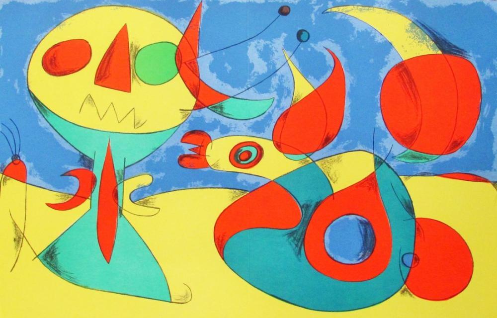 Joan Miro Behind The Lithograph, Figure, Joan Miro, kanvas tablo, canvas print sales