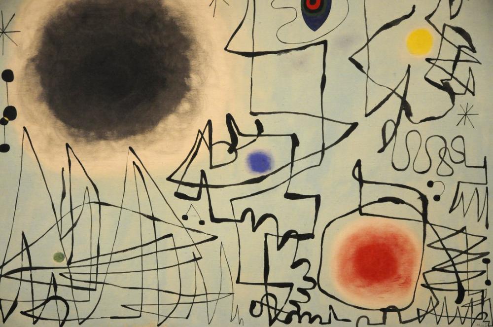 Joan Miro Alacakaranlıkta Elmas Gülümsüyor, Figür, Joan Miro, kanvas tablo, canvas print sales