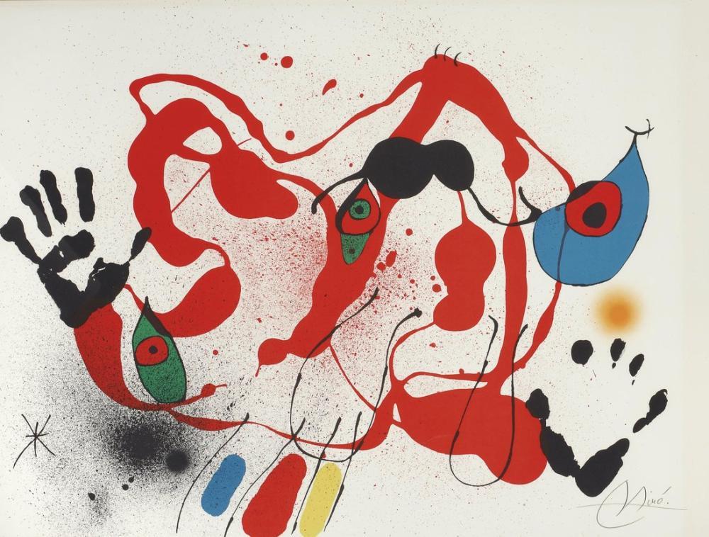 Joan Miro El Marxant De Galls, Figür, Joan Miro, kanvas tablo, canvas print sales