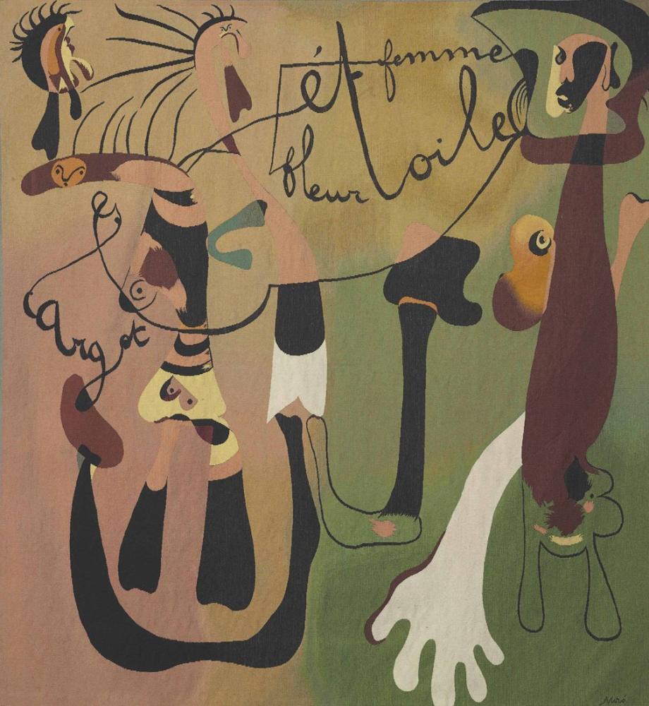 Joan Miro Salyangoz Kadın Çiçek Yıldızı, Figür, Joan Miro, kanvas tablo, canvas print sales
