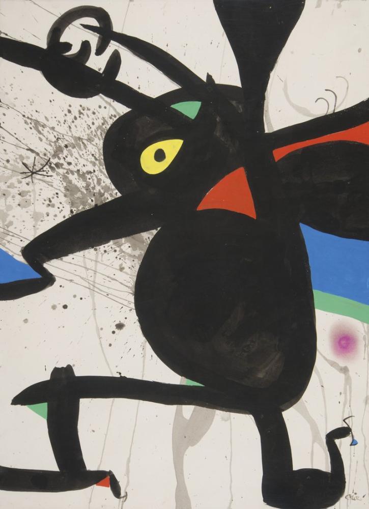 Joan Miro Femme, Figure, Joan Miro, jm64